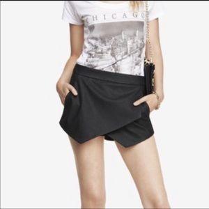 Express Black Faux Leather Skort size 8
